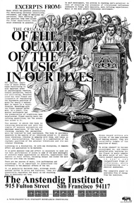 Poster for the Importance of the Quality of the Music in Our Lives