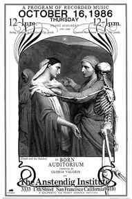 "Poster for the music program ""Death and the Maiden"""