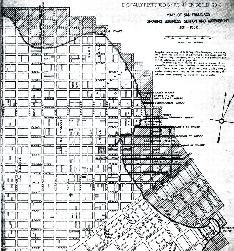 San Francisco During The Gold Rush - San francisco map financial district